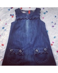 Denim Dress For A Little Girl Age 3-4years LAGOS