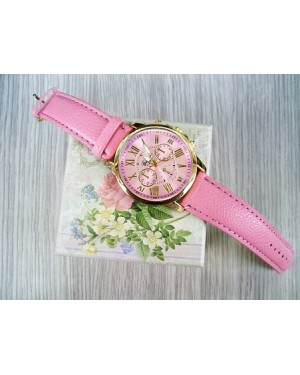 Pink Leather Strapped Watch LAGOS
